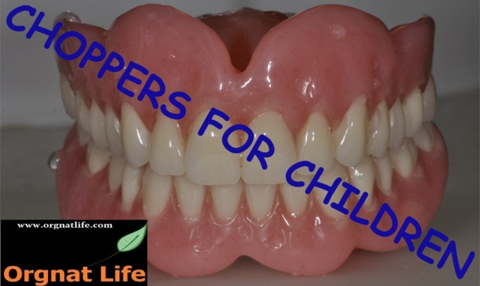 Dental care for children. Please donate your false teeth today